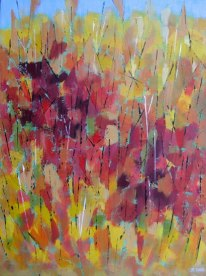 "Autumn Hillside, acrylic on canvas, 18"" x 24"", 2011, SOLD"