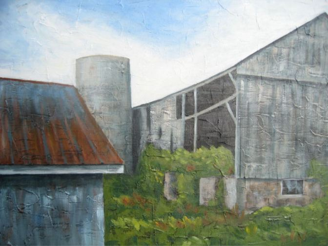 "Barn Collection, acrylic on canvas, 16"" x 20"", 2008 SOLD"