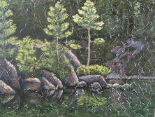 "Haliburton Reflections 4, acrylic on canvas, 30"" x 40"", 2008"
