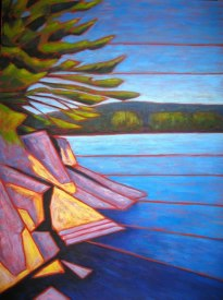 "Haliburton scene, abstracted #1, Acrylic on canvas, 30"" x 40"", 2011, SOLD"
