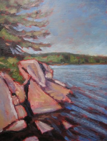 "Haliburton Scene, oil on masonite, 8"" x 10"", 2011"