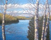 "Wenona Lake, late October, acrylic on texturized canvas, 24"" x 30"", SOLD"