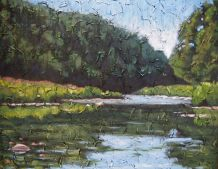 "Maitland River Series, acrylic on texturized canvas, 22"" x 28"", 2009"