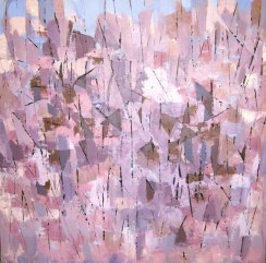 "November Hillside, Acrylic on canvas, 30"" x 30"", 2011"