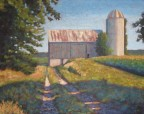 "Old Barn Near Benmiller, Ont., acrylic on texturized canvas, 22 x 28"", 2012, SOLD"