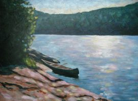 "Paddler's Paradise, acrylic on canvas, 16"" x 20"", 2008, SOLD"