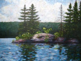"Rocky Point, Acrylic on textured canvas, 30"" x 40"", 2009, SOLD"