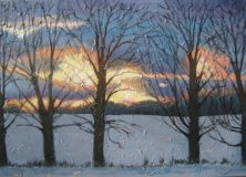 "Sunset on Summerhill Rd. 3, acrylic on canvas, 24"" x 36"", 2008 SOLD"
