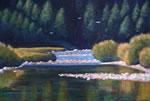 "Maitland River Scene, 30"" x 48"", acrylic on texturized canvas, 2011, SOLD"