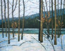 "Winter Along the Maitland River, acrylic on canvas, 22"" x 28"", 2008, SOLD"