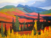 "Yukon Magesty 1, acrylic on texturized canvas, 30"" x 40"", SOLD"