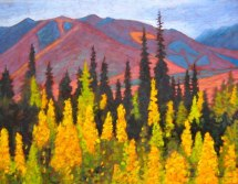 "Yukon in September, acrylic on texturized canvas, 28"" x 36"", 2012, SOLD"