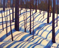 """Ribbons of Sunlight and Shadow, acrylic on canvas, 30 x 24"""" donated to YWCA"""