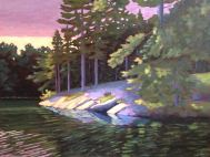 "Evening at Rocky Point, acrylic on texturized canvas, 32 x 24"""